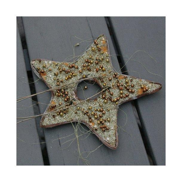 buketstjerne, guld med perler