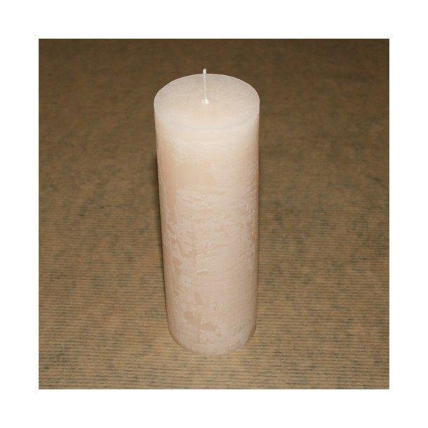 Bloklys, elfenben (H 15 cm)