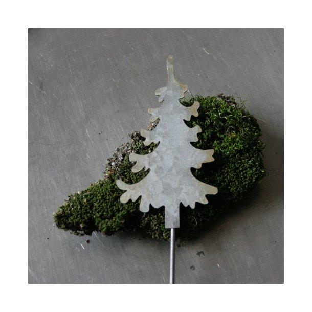 Juletræ på stick, zink