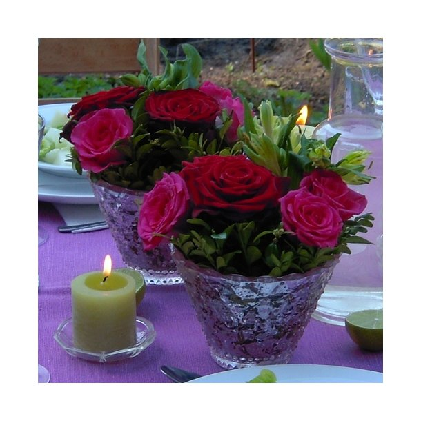 Glasskål, rosa