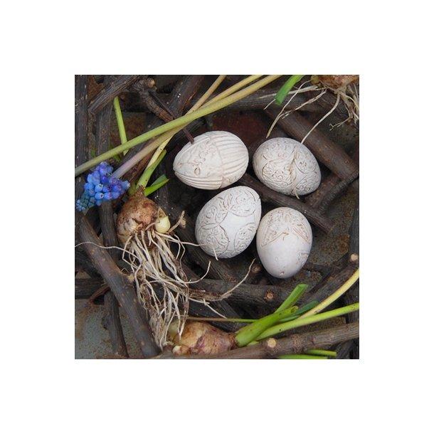 Æg med dekoration (3 stk.)