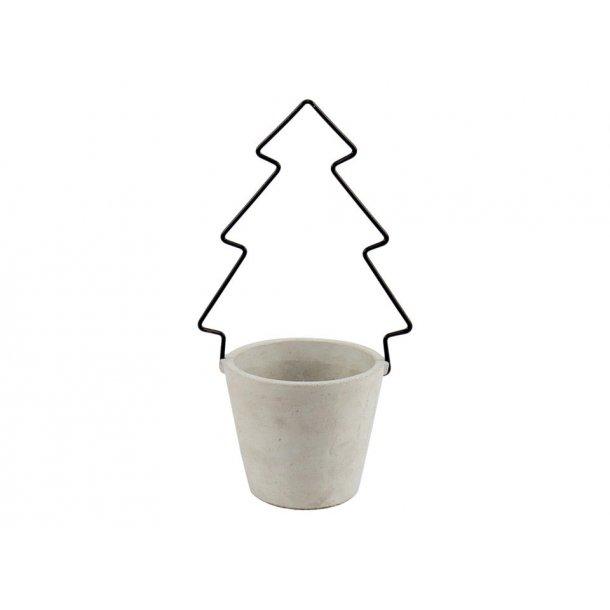Potte med juletræ