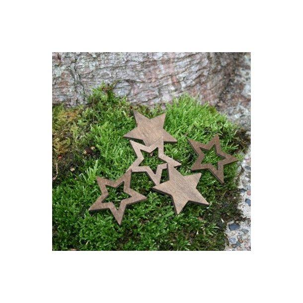 Stjerner, brun store  (12 stk.)