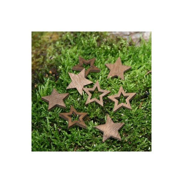 Stjerner, brun små (24 stk.)