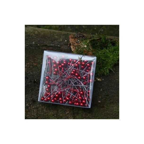 Knappenåle, rød (100 stk.)