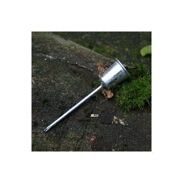 Lysholder til stagelys, sølv (12 cm)