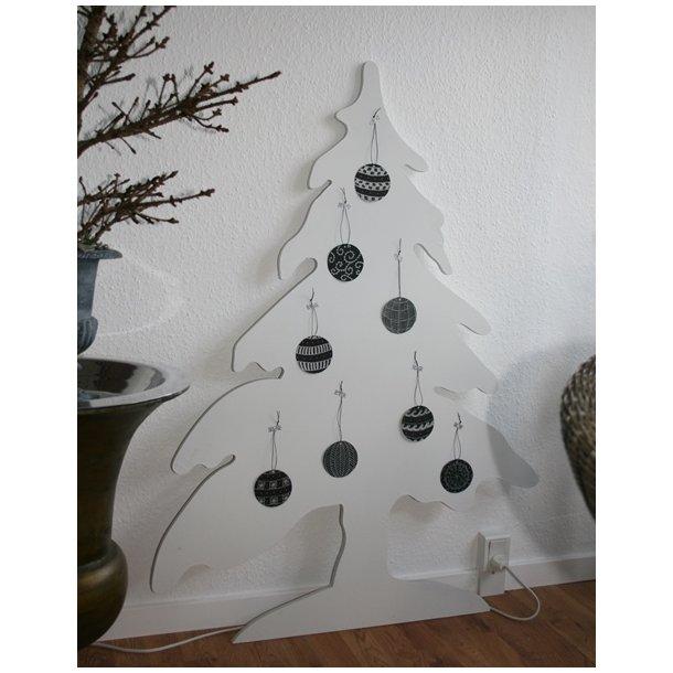 Juletræ, hvid (120 cm)