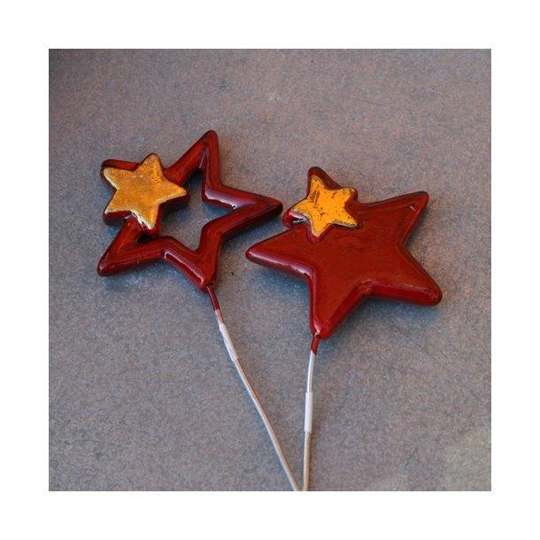Stjerner, rød (2 stk.)