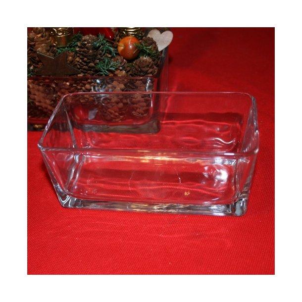 Glasskål, aflang