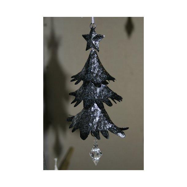 Juletræ, sort metal