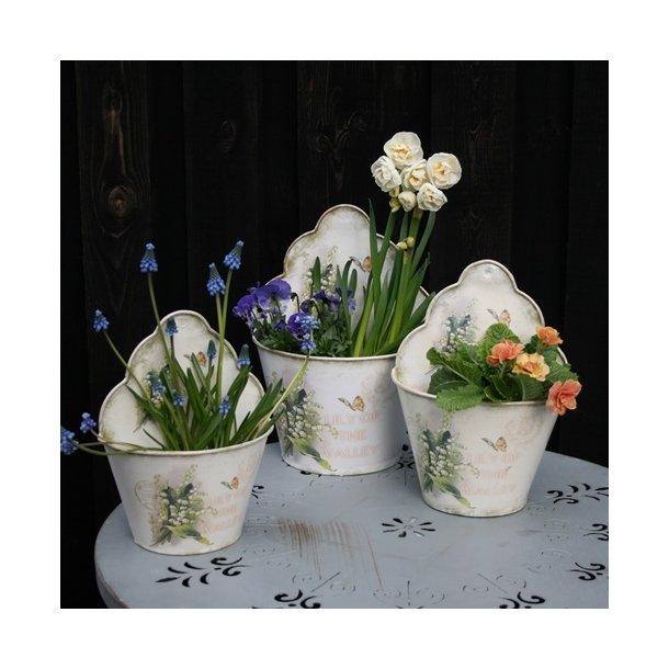 Vægpotte, sæt med 3 potter