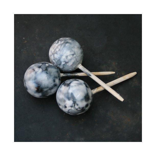 Keramikkugler, Ø3, grå (3 stk.)
