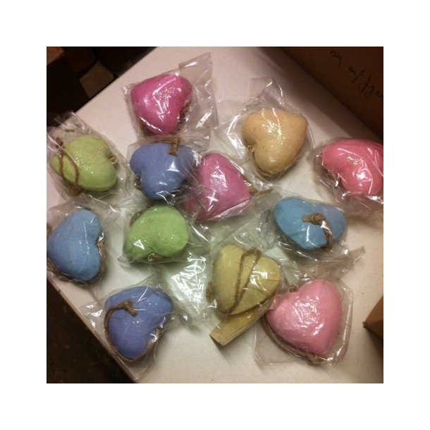 Hjerter, pastelfarvede (12 stk.)
