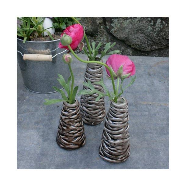 Vase, stone (3 stk.)