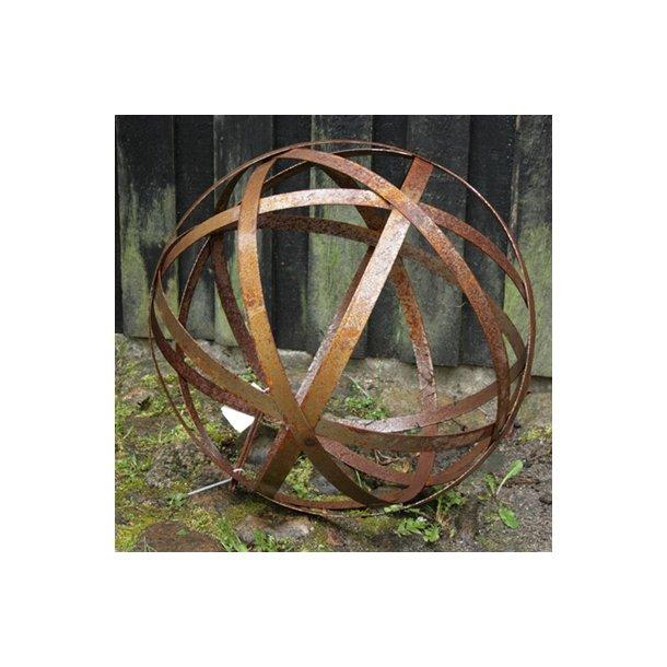 Dekorationskugle, rust, fladjern (Ø 40 cm)