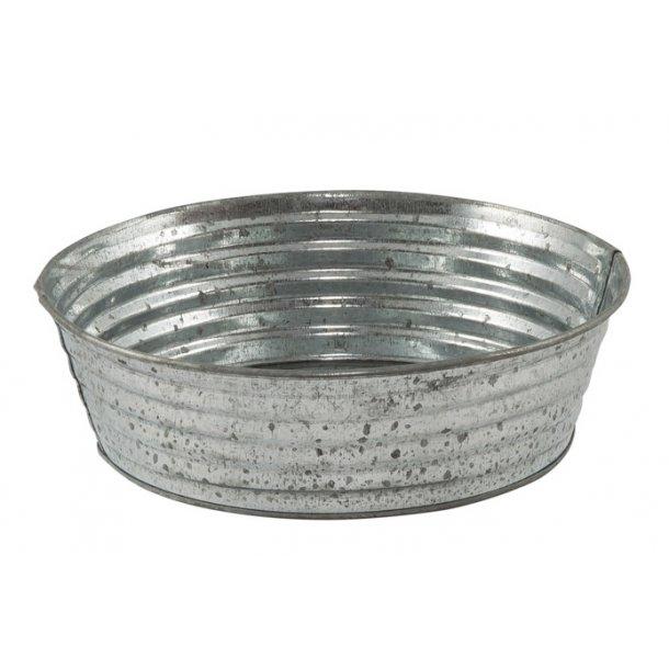 Zinkskål med riller, 16 cm