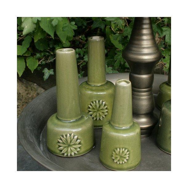 Vaser, grønne (sæt med 3 stk.)