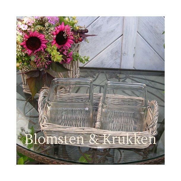 Pileflet med glasindsats, dobbelt