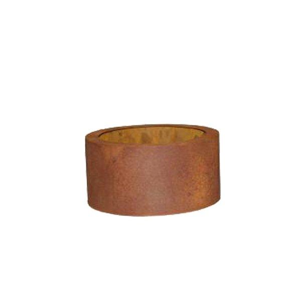 Cortenstål, lav rund krukke (Ø 41 cm)