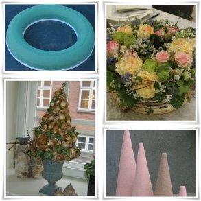 Oasis og blomsterskum